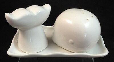 Port Philip Shore Line Great White Whale Salt & Pepper Shaker Set With Tray
