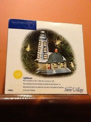 dept 56 Snow Village lighted LIGHTHOUSE Classic Ornament Series mint