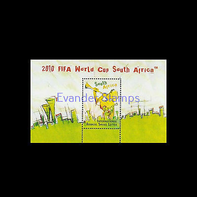 South Africa 2009 World Cup Football 2010 FIFA (4th) MS. MNH