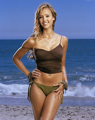 Jessica Alba 8X10 Photo Picture Pic Hot Sexy Wet Little Bikini 137