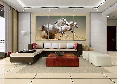 Hot Sell! 3PC Modern Abstract Huge Canvas Art Oil Painting horse (NO FRAME)
