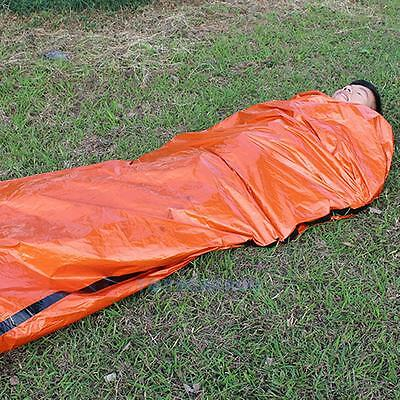 New Orange Outdoor Camping Emergency Warm Heat Waterproof Survival Sleeping Bag