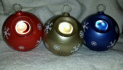 "6 Snowflake Projection Christmas Ornament Lot 4"" Battery Operated Sensors NEW"