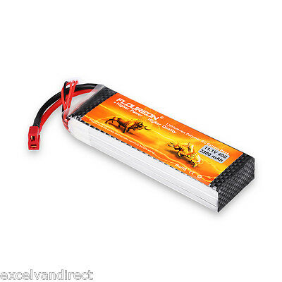 FLOUREON 3S 11.1V 3300mAh 40C Lipo RC Battery Deans for Helicopter Airplane Car