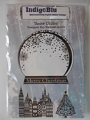 Indigoblu Cling Mounted Rubber Stamp - Snow Globe
