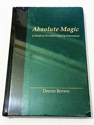 Absolute Magic Derren Brown Powerful Close Up Performance BRAND NEW SEALED Rare