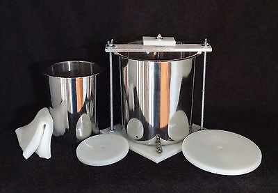 "Stainless Steel HDPE 6"" & 4"" Spring Assisted Double Cheese Press"
