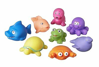 Nuby Baby Bath Time Fun Activty Little Animal Water Squirters Kids Toys X 8 +6m