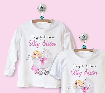 I'm going to be a big sister LONG / SHORT SLEEVE t-shirt top clothing baby PRAM