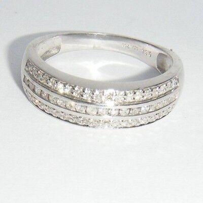 Vintage Superb 18ct White Gold & Multi Diamond Ring - 3.7g - No Reserve