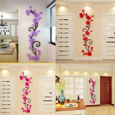3D Acrylic Crystal Wall Stickers Living Room Bedroom TV Background Home Decor lO
