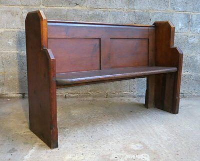 Woodham Ferrers Antique Old Pine Panel Church Pew   We deliver