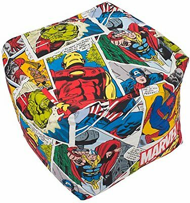 Marvel Avengers Bean Cube - Justice Bean Bag Filled Chair Seat Bedroom Play Room