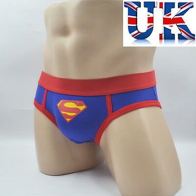 Mens Fun Superman Cotton Briefs **Medium & Large**UK Seller**