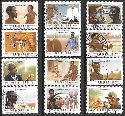 NAMIBIA 2005 TRADITIONAL ROLES OF MEN Sc#1093-4 POSTAL USED COMPLETE SET 1585