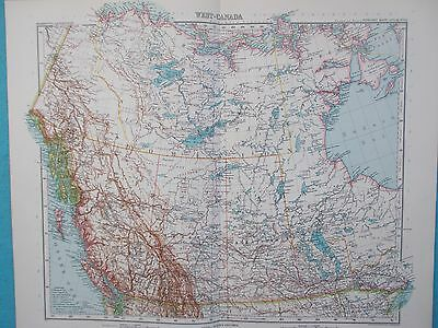 Map of Western Canada. 1909. Stieler. Yukon. British Columbia, Alberta.