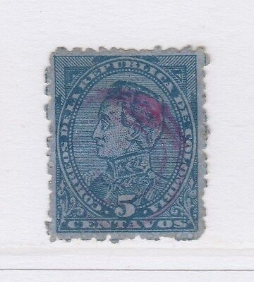 A2P57 COLOMBIA 1886 5c USED