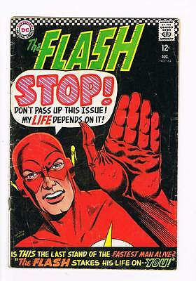 Flash # 163 The Flash Stakes His Life On You ! grade 3.5 scarce hot book !!