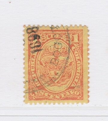 A2P58 COLOMBIA 1892-99 1c USED #2