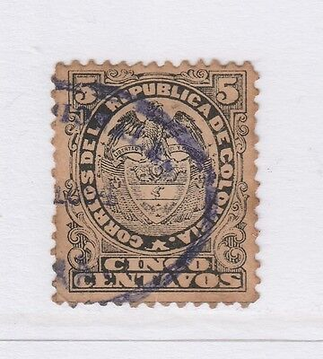 A2P58 COLOMBIA 1892-99 5c USED #2