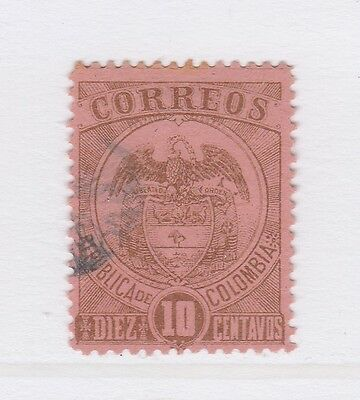 A2P58 COLOMBIA 1899 10c USED
