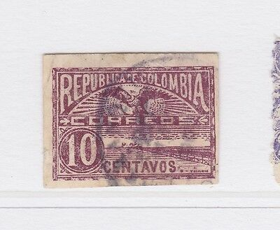 A2P58 COLOMBIA 1902-03 10c USED