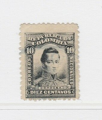 A2P58 COLOMBIA 1917 10c USED