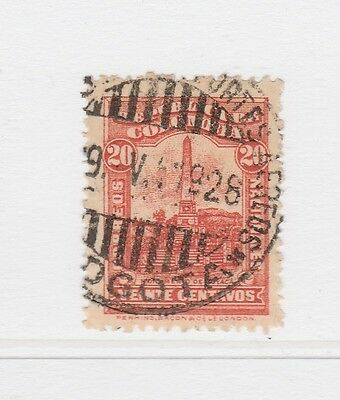 A2P58 COLOMBIA 1917 20c USED