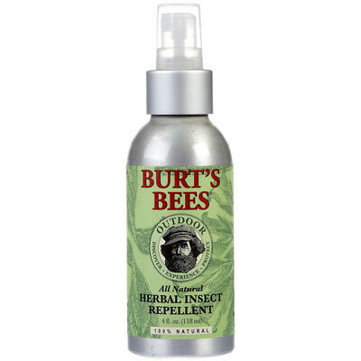BURT'S BEES Allnatural Herbal Insect Repellent Safer For Kids 4 fl. oz. 118 ml