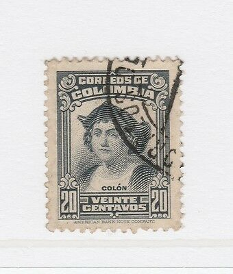 A2P58 COLOMBIA 1939 20c USED