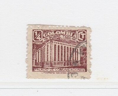A2P58 COLOMBIA POSTAL TAX 1939-45 1/4c USED #2