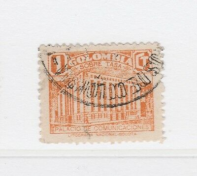 A2P58 COLOMBIA POSTAL TAX 1939-45 1c USED #2