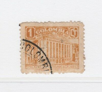 A2P58 COLOMBIA POSTAL TAX 1939-45 1c USED #3