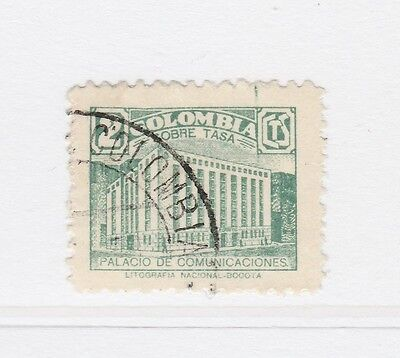A2P58 COLOMBIA POSTAL TAX 1939-45 2c USED