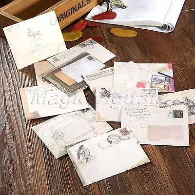 12Pc Classical Paper Ancient Envelopes For RSVP Message Cards Invites Craft DIY
