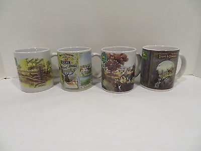 Lot of 4 Collectible John Deere Mugs by Gibson