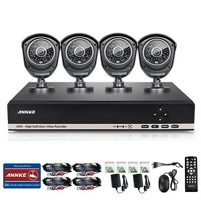 ANNKE 960P 8CH AHD 1080N DVR 1800TVL Outdoor Night Vision Security Camera System