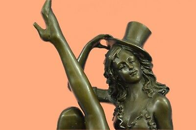 Vintage Style Sensual Nude women Dancer Bronze or Metal Sculpture w/Marble Base