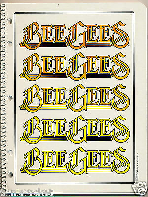 """Bee Gees-Rock On Spiral Note Book with 60 Lined Sheet-Soft Cover-8"""" x 10.5""""-1979"""