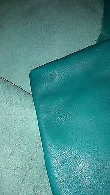** PRIVATE listing for pistonbrokeoff ** Turquoise leather 193cm x 96cm