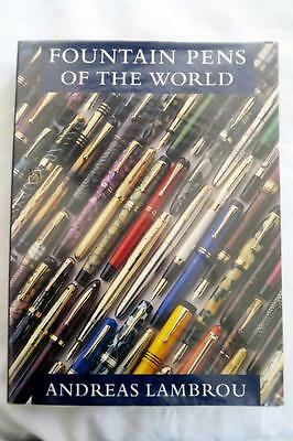 FOUNTAIN PENS OF THE WORLD by ANDREAS LAMBROU ORIGINAL COPY 1995, EX. CONDITION