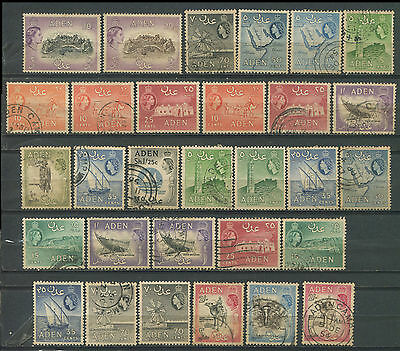 Aden QEII collection used & mint to 20sh (2)