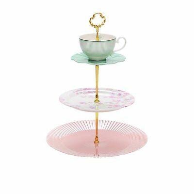 NEW Salt & Pepper Eclectic 3 Tier Cake Stand (RRP $60)
