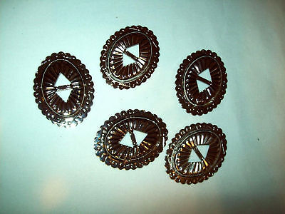 """Conchos Silver Oval Shaped, Western Look 1 5/8"""", 2 1/4"""""""