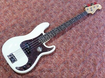 Fender American Standard Precision Bass UG 2014 White Used Electric Bass Guitar