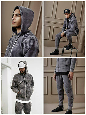 Survetement cayler & sons bl moto zip hoody acid washed grey
