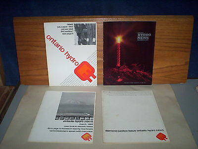 Ontario Hydro Public Utility News Canada Booklets : 4 Issues Lot of 1963 to 1966