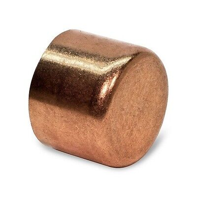 """2"""" (OD 2-1/8"""") Copper Cap CxC End Cap For Pipes & Tubes - Elkhart - Made In USA"""