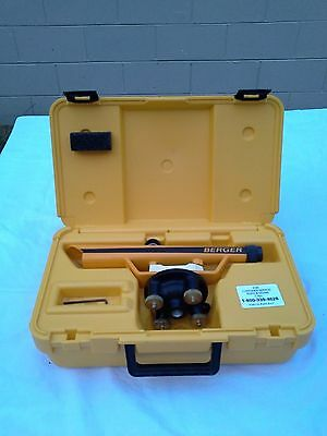 Berger Instruments  Transit Lever Model 135/w Case(Good Condition).