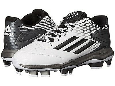 ADIDAS C77529 POWER ALLEY 3TPU Wmn's (M) White/Grey Synthetic Baseball Cleats